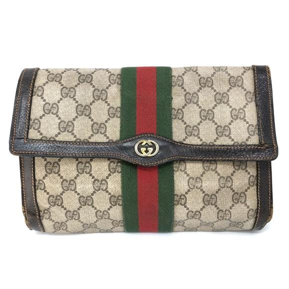 c70d4998d569f9 Gucci Bags | Vintage Parfums Canvas Gg Brown Clutch Read | Poshmark